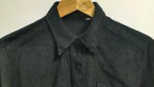VERSACE Womens vintage VELVET shirt black hound's tooth pattern Small