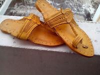 Women Sandal US 6,7,8,9,10 Handmade Leather Shoes Flip Flop Kolhapuri Mojari
