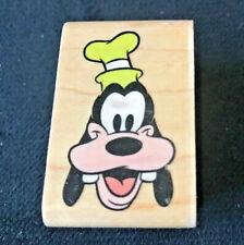 Vintage Mickey Mouse GOOFY'S PORTRAIT 404C Wood Wooden Rubber Stamp WALT DISNEY
