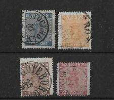 (6) Sweden 1858-72 used Badge issues (4v)