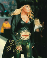 Trish Stratus Signed 8x10 Photo COA WWE WCW WWF Wrestling Diva 4