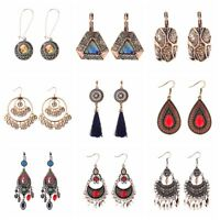 Women's Vintage Metal Bohemia Gypsy Ethnic Elegant Dangle Drop Earrings Jewelry
