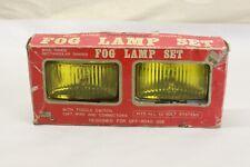 New ListingNos Vintage Car Truck Accessory Glass Amber Lens Chrome Fog Light Lamp Pair