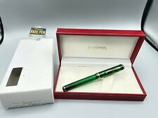 Sheaffer Levenger Connaisseur Aegean Green Fountain Pen 14k Fine Nib New Boxed