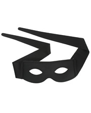Zorro Small Black Adult Eye Mask With Ties
