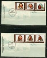 MARSHALL ISLANDS 2009 PORTRAITS OF AMERICAN INDIANS SET ON 4  FIRST DAY COVERS