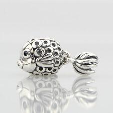 European Pandora .925 Sterling Silver Charm Splish-Splash Fish Jewelry