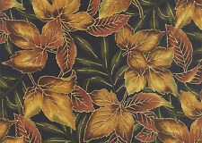 Maple Leaves: Brown/Gold OUTDOOR SPLENDOR from Kona Bay Fabric