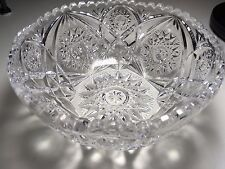 Decorative Unusual Vintage Gorgeous Engraved Clear Crystal Bowl Trinkets Candy