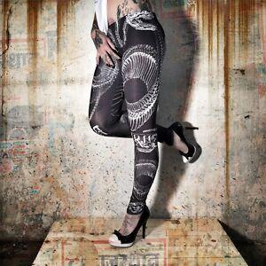 "YAKUZA - Leggings LEB 7140 ""Snake"" All-Over Print schwarz"