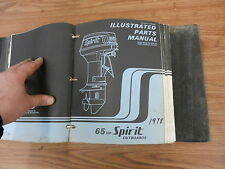 1978 9.9 16 HP Spirit outboard motor parts list manual book