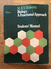Biology - A Functional Approach - Students' Manual By M.B.V. Roberts 1978 Print