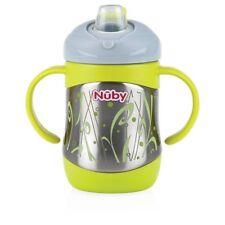 NUBY ID10260 Thermo en acier inoxydable Gobelet avec bec verseur, 220 ml