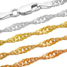 Singapurkette Silberkette - SS 925 - 1.7-3.3 mm + 40,45,50,55,60,65,70,75 cm