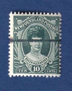 Newfoundland stamps #112 10c Green 1911 Royal Family issue F/VF/mnh C details