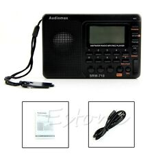 Digital Tuning LCD Receiver Portable TF MP3 REC Player AM FM SW Full Band Radio