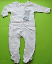 Baby Jungen Ergee Strampler Overall Schlafanzug  weiß  GR.68 NEU