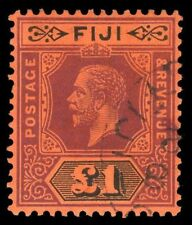 Fiji 1914 KGV £1 purple & black/red very fine used. SG 137. Sc 91.