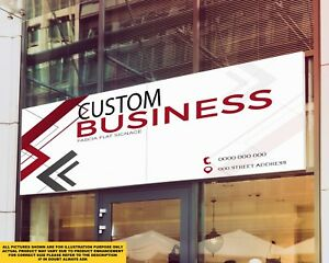 Business Front Shop Fascia Signage Colour Sign Printed Heavy Duty 4245