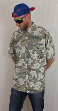 VINTAGE anni'90 Fresh Prince Stile Hawaiano Camicia Taglia XL