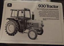 Rare John Deere 930 tractor brochure leaflet Lanz Mannheim