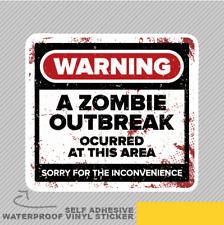 Signo de vinilo Gracioso Grunge Zombie brote Adhesivo Calcomanía ventana de coche furgoneta bicicleta 2749