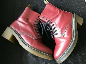 Damen Leder  Stiefel Dr Martens Rot GR, 42 NEU ohne Karton