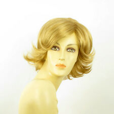 short wig for women smooth golden blond ref MARION 24B PERUK