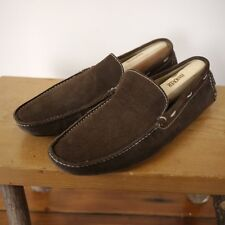 Via Spiga Roadster Brown Brazilian Leather Suede Casual Driving Moccasins 10.5M
