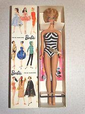 Barbie:  VINTAGE 1961 WHITE GINGER BUBBLECUT BARBIE Doll w/WRIST TAG & BOX!