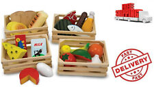 Food Groups Set Wooden Educational Toys Farm Toy Play Food Set