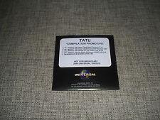 TATU / T.A.T.U. - DANGEROUS & MOVING / ALL ABOUT US - 5 TRACK ADVANCE PROMO DVD