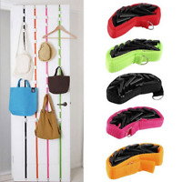 Adjustable Door Back Straps Hanger Hat Bag Clothes Rack Holder Hooks Organizer
