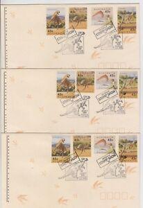 Stamps Australia 1993 Brisbane Stamp Show set 3 dinosaurs souvenir covers