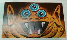 Vintage! Rare 1967 Topps Nutty BLOCKHEADS Three eyed monster Halloween Mask Mad