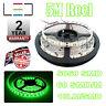 5m 12v Green LED Strip Light 5050 IP65 300SMD 18LM/SMD 60SMD/m Bright Waterproof