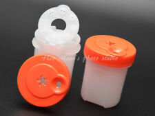 2 Set New Tupperware Modular Mates Adjustable Flow Divided Salt and Pepper Shake