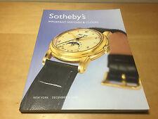 Magazine SOTHEBY'S - Important Watches & Clocks - New York 8 December 2006