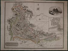 1823 LARGE DATED MAP DUMBARTONSHIRE JOHN THOMSON ATLAS of SCOTLAND DUMBARTON