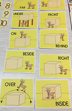 G0AT POSITION & DIRECTION CARDS -LAMINATED - Teaching supplies