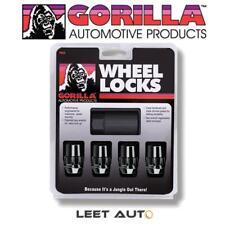 Gorilla Wheel Locks, Black, 14mm x 1.50 Thread, Bulge Acorn Seat, 71641NBC
