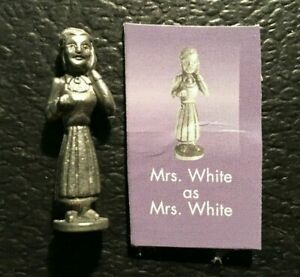 Clue Scooby Doo Mrs White PEWTER TOKEN Game Replacement 2003 FREE SHIPPING