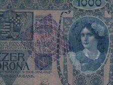 FIUME 1000 KRONEN KORONA 1915 1918 CITTA DI FIUME (605) Consiglio Nazionale RARE
