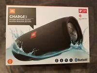 Brand New JBL Charge 3 Waterproof Portable Bluetooth Speaker BLACK!!
