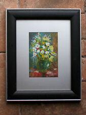 Bouquet de fleurs expressionisme signature a dechiffrer