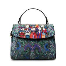 Women's Leather Handbag Fashion Printing Forest Small Package Hobo  Shoulder Bag