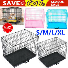 More details for dog cage pet puppy crate carrier home folding door training kennel s m l xl xxl
