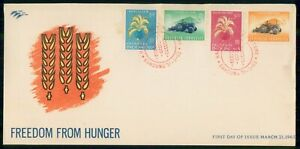 Mayfairstamps INDONESIA FDC 1963 COVER FREEDOM FROM HUNGER COMBO wwi95703