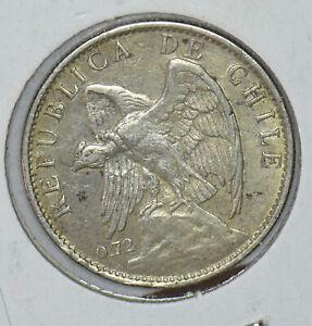 Chile 1915 Peso Vulture animal 291158 combine shipping