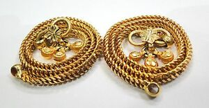 Vintage antique Handmade Solid 22k Gold Jewelry Anklet Pair